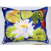 Betsy Drake Interiors Lily Pad Flower Indoor/Outdoor Lumbar Pillow