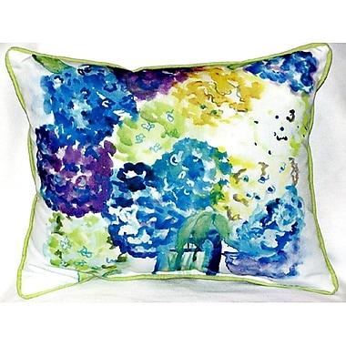 Betsy Drake Interiors Hydrangea Indoor/Outdoor Lumbar Pillow