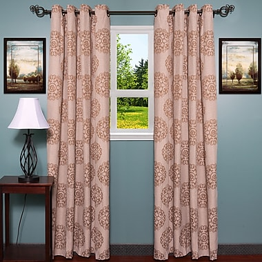 Sweet Home Collection Jody Single Curtain Panel; Taupe