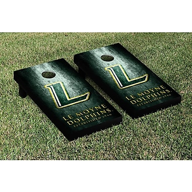 Victory Tailgate NCAA Metal Version Cornhole Game Set; Le Moyne College Dolphins