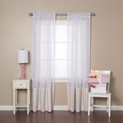 Best Home Fashion, Inc. Polka Dots Sheer Rod Pocket Curtain Panels (Set of 2); Pink