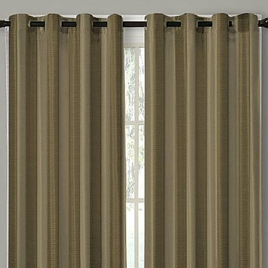 Linen Depot Direct Cynthia Curtain Panels (Set of 2); Mushroom
