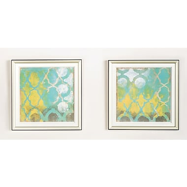 Statements by J Diamond 2 Piece Framed Painting Print Set