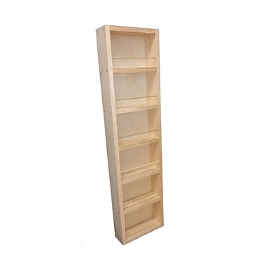 WG Wood Products Midland Wall Mounted Spice Rack; 41.25'' H x 11'' W x 3.5'' D