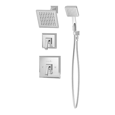 Symmons Oxford Pressure Balance Shower and Hand Shower w/ Lever Handle; Chrome