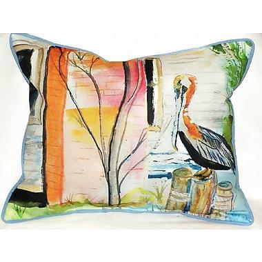 Betsy Drake Interiors Pelican Indoor/Outdoor Lumbar Pillow