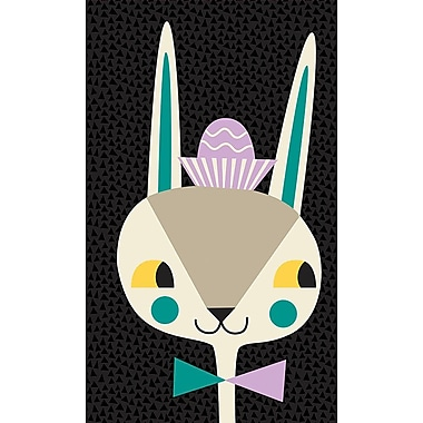 GreenBox Art 'Modern Bunny' by Amy Blay Graphic Art on Canvas; 14'' H x 10'' W