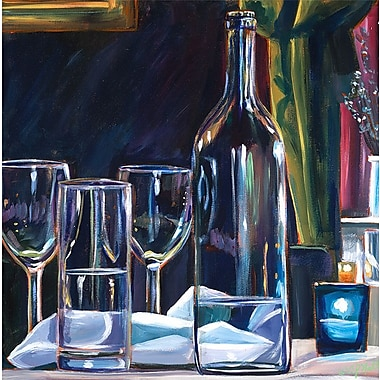 GreenBox Art 'Meal w/ Friends' by Colleen Phelon Hall Painting Print on Canvas; 24'' H x 24'' W