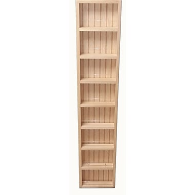 WG Wood Products Midland Premium Wall Mounted Spice Rack; 54.75'' H x 11'' W x 2.5'' D