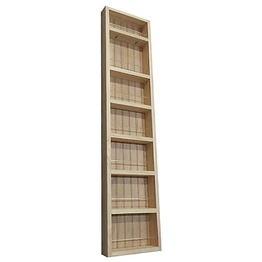 WG Wood Products Midland Premium Wall Mounted Spice Rack; 48'' H x 11'' W x 2.5'' D