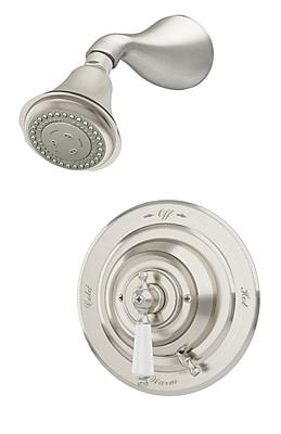 Symmons Carrington Pressure Balance Shower System w/ Lever Handle; Satin Nickel