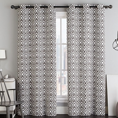 VCNY Justin Light Filtering Curtain Panel (Set of 2); Brown