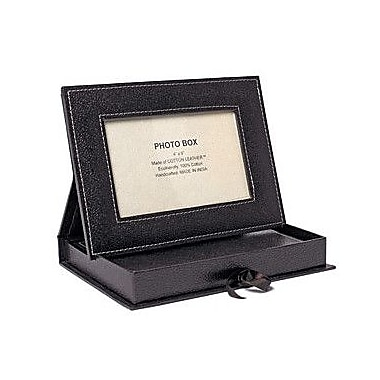 Arcadia Home Picture Frame Box w/ Journal; Chocolate