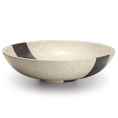 MaestroBath Copalto Circular Vessel Bathroom Sink; Beige