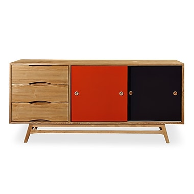 Kardiel Color Pop Series Credenza; Natural Ash