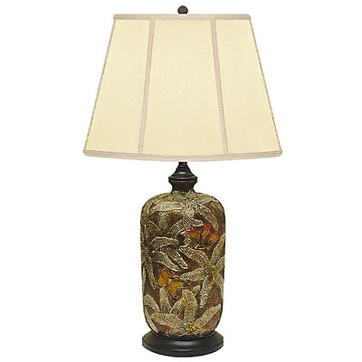 JB Hirsch Field of Art Hand Painted Porcelain 29'' Table Lamp