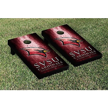 Victory Tailgate NCAA Metal Version Cornhole Game Set; Saginaw Valley State SVSU Cardinals