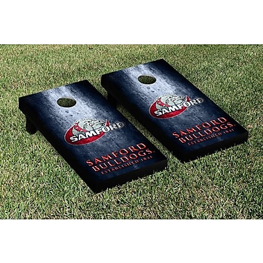 Victory Tailgate NCAA Metal Version Cornhole Game Set; Samford University Bulldogs