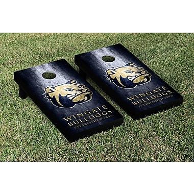 Victory Tailgate NCAA Metal Version Cornhole Game Set; Wingate Bulldogs