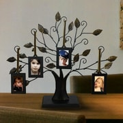 AdecoTrading 4 Opening Decorative Iron Tree Table Top Collage Picture Frame