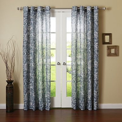 Best Home Fashion, Inc. Paisley Sheer Grommet Curtain Panels (Set of 2)