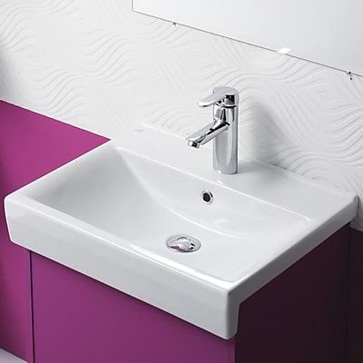 CeraStyle by Nameeks Riva B Ceramic Rectangular Drop-In Bathroom Sink w/ Overflow