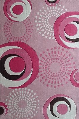 Rug Factory Plus Zoomania Hand-Tufted Pink Area Rug