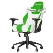 Vertagear High-Back Gaming Office Chair w/ Arms; White/Green