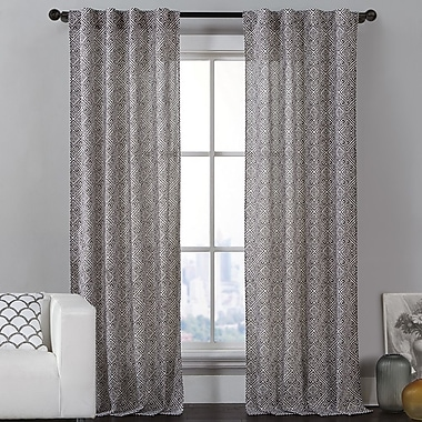 Luxury Home Payton Curtain Panels (Set of 2); Brown