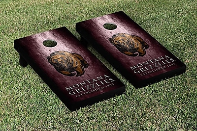 Victory Tailgate NCAA Metal Version Cornhole Game Set; University of Montana Grizzlies