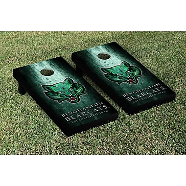 Victory Tailgate NCAA Metal Version Cornhole Game Set; Binghamton Bearcats