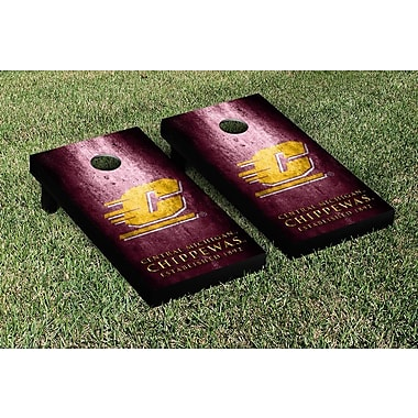Victory Tailgate NCAA Metal Version Cornhole Game Set; Central Michigan Chippewas