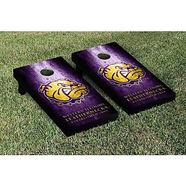 Victory Tailgate NCAA Metal Version Cornhole Game Set; Western Illinois Leathernecks