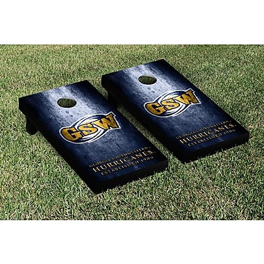 Victory Tailgate NCAA Metal Version Cornhole Game Set; Georgia Southwestern State Hurricanes
