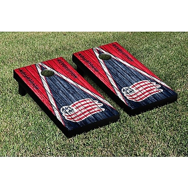 Victory Tailgate MLS Triangle Weathered Version Cornhole Game Set; New England Revolution Revs