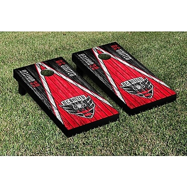 Victory Tailgate MLS Triangle Weathered Version Cornhole Game Set; DC United