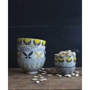 Creative Co-Op Mix & Match Patterned Hand-Stamped Bowls (Set of 4)