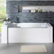 PacificCollection Delano 59.8'' x 32'' Soaking Bathtub; Right
