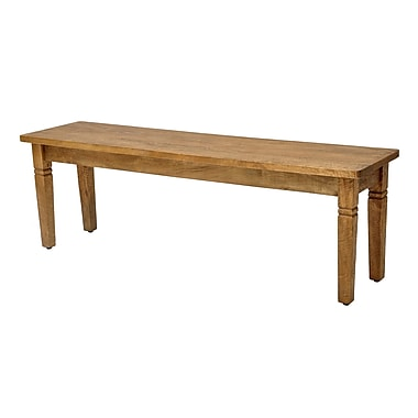 Casual Elements Sedona Bench; Rustic Mango Natural