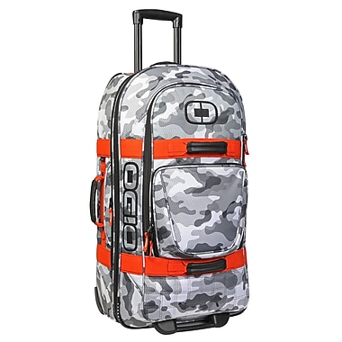 OGIO Terminal Wheeled Duffle Bag, Snow Camo/Orange, (108226.573)