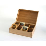 Lipper Bamboo 8-compartment Tea Box (8188)