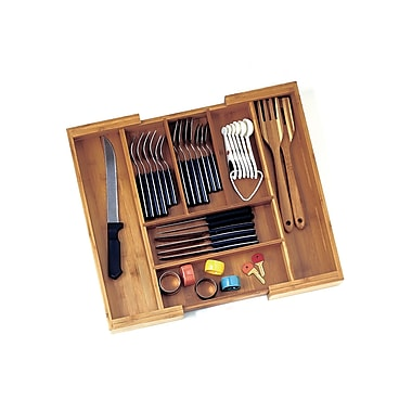 Lipper Bamboo Expandable Flatware Organizer (8872)