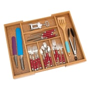 Lipper Bamboo & Cork Expandable Flatware Organizer (8874)
