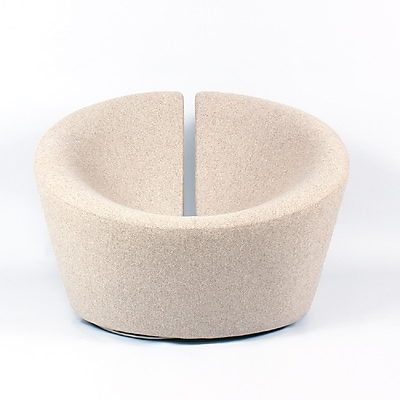 Control Brand Wool Blend Contemporist Lovers Lounge Chair, Wheat (FB7091WHEAT)