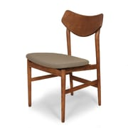 Control Brand Wool Blend Borlange Side Chair, Walnut/Grey (FEC2012GREY)