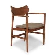 Control Brand Wool Blend Borlange Arm Chair, Walnut/Grey (FEC2022GREY)