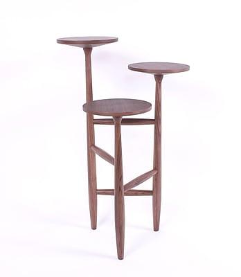 Control Brand Francine Wood/Veneer Side Table, Walnut, Each (FET5219)