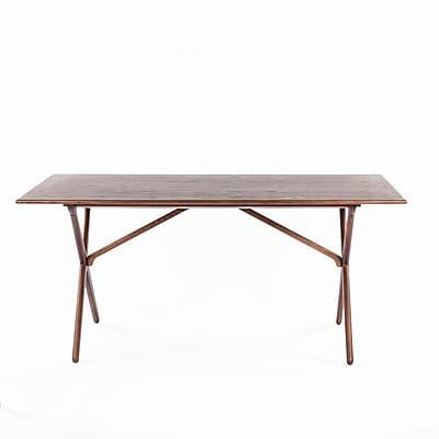 Control Brand Eslov Wood Console Table, Walnut, Each (FET6439WALNUT)