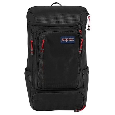 Jansport Black Nylon/Polyester Sentinel Backpack (T69E008)