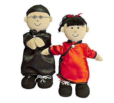 Miniland Educational Etni Asian Fastening Doll-Boy, Black (96305)
